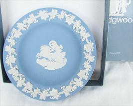 Wedgwood plate trinket dish horses & chariot jasperware blue grape vine ... - $9.41