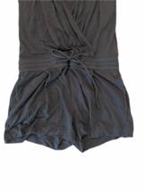 Helmut Lang Women Gray Sleeveless Summer Romper Shorts Size Small image 4