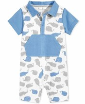 First Impressions Baby Boys' Whale-Print Romper- Blue (18 Months) - $16.71