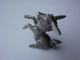 "Hudson Pewter Miniature Sculpture Donkey 1 1/2""  Figurine - $13.99"