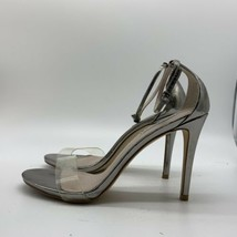 Steve Madden Womens Stecy Open Toe Casual Ankle Strap, Silver , Size 9.5M - $17.82