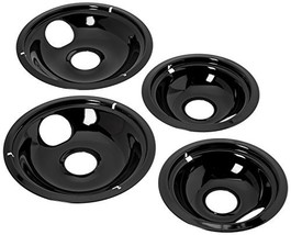 Stanco 4 Pack Universal Electric Range Black Porcelain Reflector Bowl - $20.44