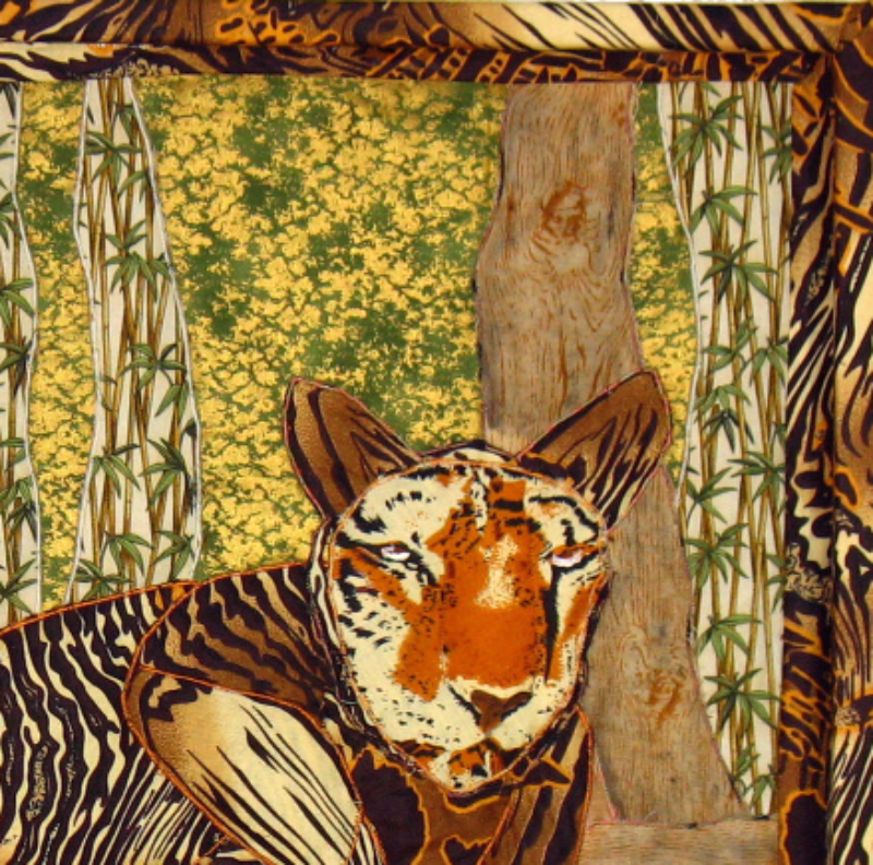 Tiger: Quilted Art Wall Hanging