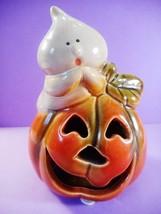 Hallmark Halloween Ceramic Shy Ghost & Grinning Jack-O-Lantern Figurine,... - €8,93 EUR