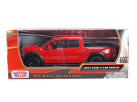 2017 Ford F-150 Raptor Pickup Truck Red with Black Wheels 1/27 Diecast M... - $32.98