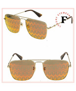 GUCCI URBAN GG0108S Gold Orange Skull Mirrored Aviator Metal Sunglasses ... - $287.10