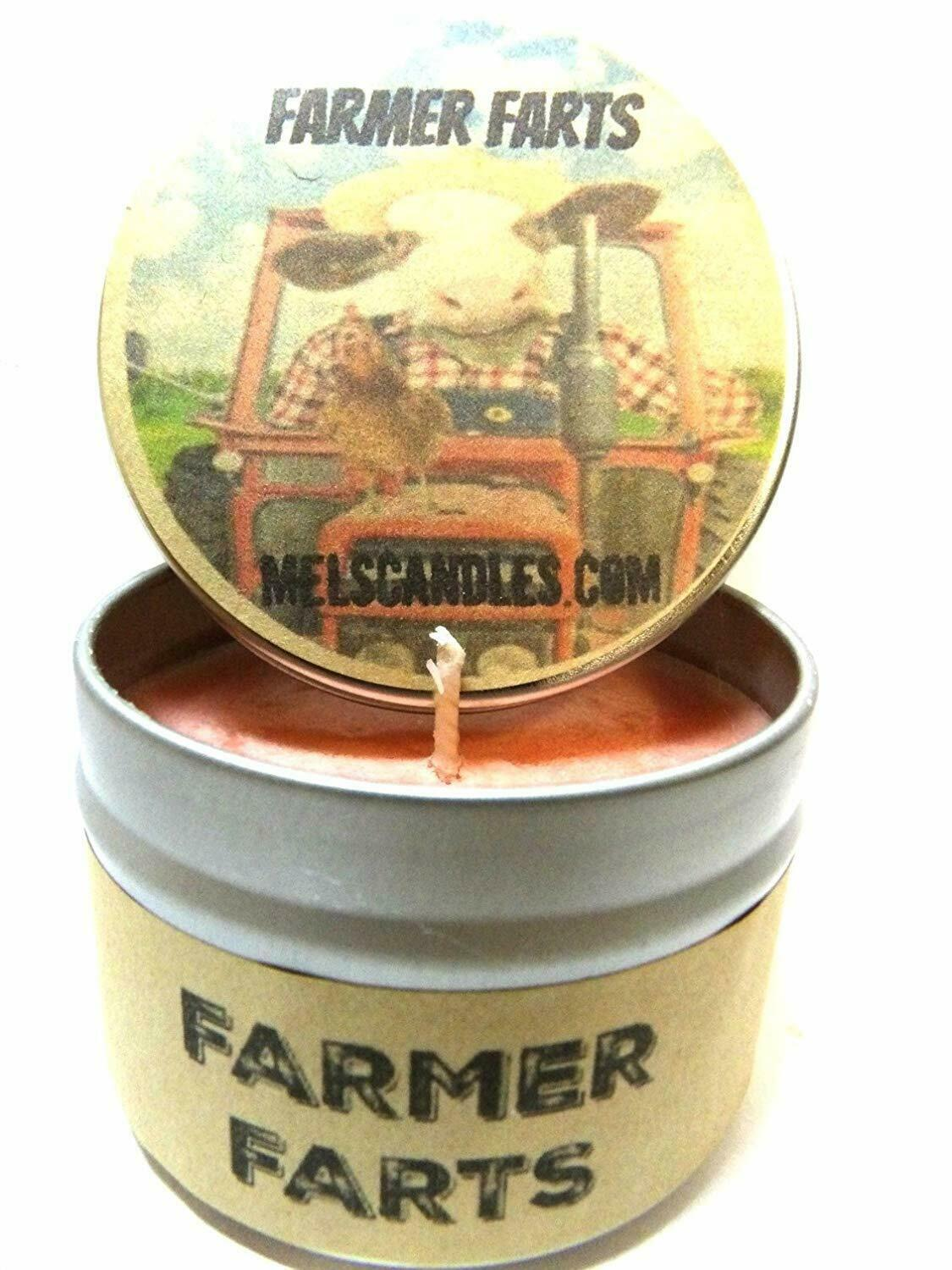 Farmer Farts (Fruity Type Aroma)- 4oz All Natural Soy Candle Tin - Approximate B - $8.89
