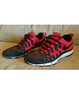 Nike Free Trainer 5.0 Black/Red size 10.5 men's 579809-601 Finger Trap W... - $48.45