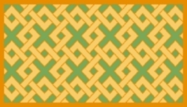 Latch Hook Rug Pattern Chart: Diamond Lattice - EMAIL2u - $5.75