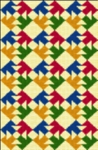 Latch Hook Rug Pattern Chart: Double T Quilt - EMAIL2u - $5.75