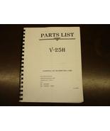 Leadwell V-25H Part List Manual - $20.00