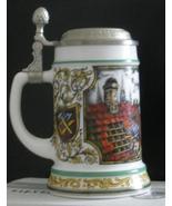 German beer stein Original BMF Biersteidel with pewter lid, clean, never... - $15.00