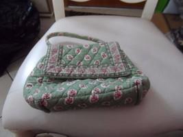 Vera Bradley small handbag satchel in retired green leaf pattern - $16.50