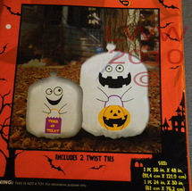 2 Trick-or-treat Ghost Halloween Leaf Lawn Bags New  - $3.99