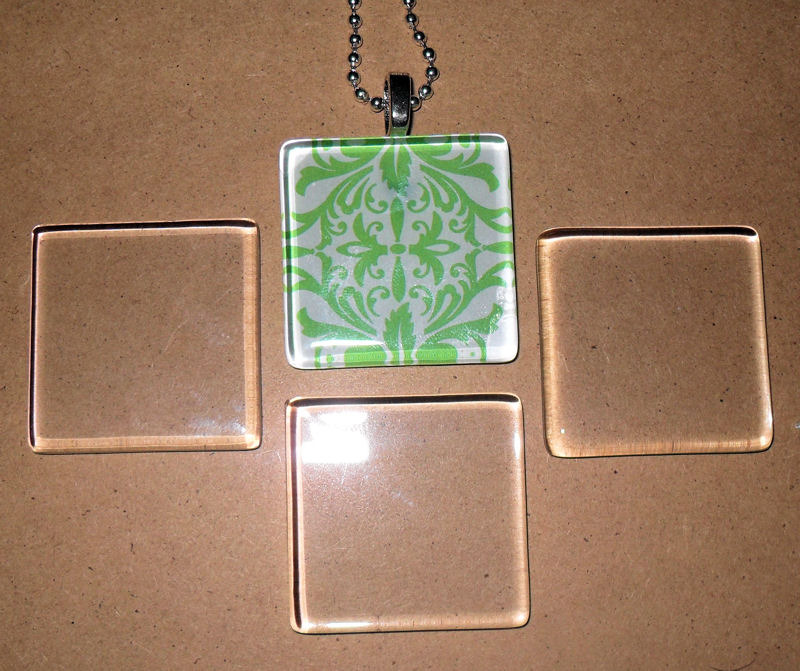 10 ultra white clear small square glass tiles 4 jewelry