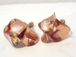 Vintage sterling silver 925 goldtone screw back earrings - $14.00