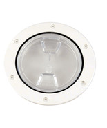"""Beckson 4"""" Clear Center Screw-Out Deck Plate - White  DP40-W-C - $29.95"""