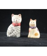 Vintage Cats Striped and Spotted Salt Pepper Shakers - $12.99