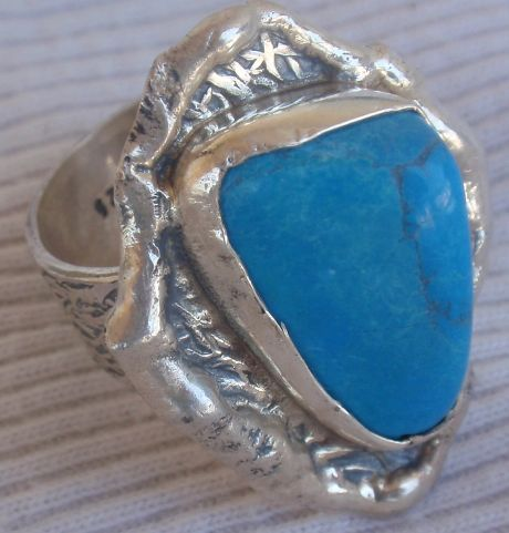 Turquise  siver ring mt19 1