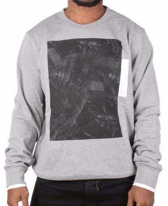 LRG Men's Heather Grey L-Coalition Crewneck Sweatshirt Fleece Sweater NWT