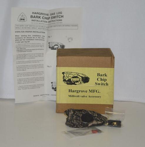 Hargrove Gas Log  BCS Bark Chip Switch Millivolt Valve Accessory