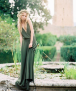 2018  Bohemian Olive Green Chiffon Country Bridesmaid Dress - $165.00