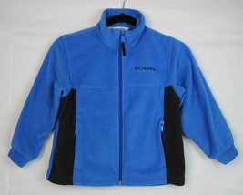 Columbia youth kids fleece zipper jacket long sleeve blue size 6/7 - $14.89