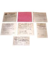 LOT of 7 1901 Antique DETROIT MI Billhead Document Receipts  Dyes RR Sup... - $19.99