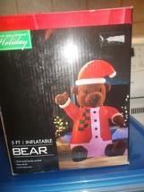 Santa Bear Airblown Inflatable 5  ft. - $44.99