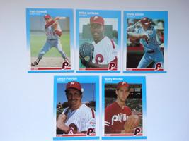 1987 Fleer Update Philadelphia Phillies Team Set Of 5 Baseball Cards - $3.00