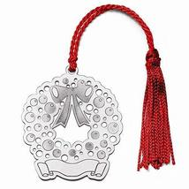 Sterling Silver Blank Christmas Wreath Ornament - $76.41