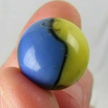 "Vintage 5/8"" Akro Agate marble CUB SCOUT blue yellow black estate sale - $11.29"