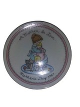 "AVON Mother's Day 1987 5"" Porcelain Plate 22k Gold Trim ""A Mother is Love""  - $5.93"