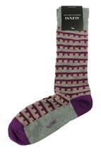 New Mens Alfani Seamless Geo Lt Grey Heather Crew Dress Socks 10-13 - $3.46
