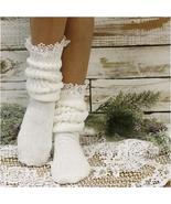 Socks, slouch socks, Hooters socks, lace, 80s socks, scrunchy socks, sup... - $16.99