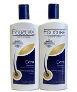 2 x folicure extra shampoo control caida biotina crecimiento 350ml each - $29.95