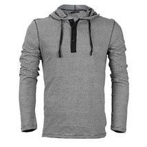 Royal Knights Men's Lightweight Slim Fit Pullover Henley Shirt Hoodie (Large, 02