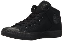 Converse Men's Street Canvas High Top Sneaker Black/Black/Black 8 M US - $68.28