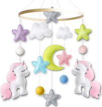 Baby Crib Mobile by Giftsfarm, Unicorn Baby Mobile for Girl Nursery Décor 2019 N