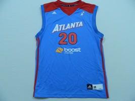 M88 New Adidas Wnba Atlanta Dream Sancho Lyttle #20 Blue Replica Jersey Men's M - $29.65