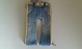 Pencil Pouch Jean Fashion Pants Style Pocket Zipper Easy Travel & Storage - $8.98