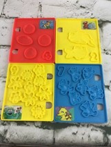 VTG 1997 Sesame Street Play-Doh Book Of Numbers Replacement Plates Lot O... - $11.88