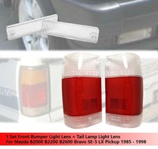 Front Bumper Light Lens + Tail Light Red Clear Lens For Mazda B2000 B220... - $36.03