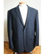 Lorenzo Bruno 46 L Black Super 150 Rayon Poly Blend 2-button Blazer Suit... - $53.20