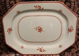 "Spode GLOUCESTER Red Fine Stone 18 7/8"" x 14 3/8"" Huge Turkey Platter - $168.30"