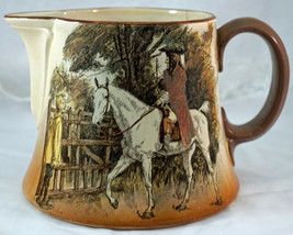 Royal Doulton Sir Roger De Coverley On Horse Argus Pitcher Nice Scenery - $37.50