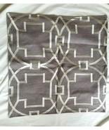 "William Sonoma MEDALLION EMBROIDERED LINEN GRAY  Pillow Cover 22""SQ  NWO... - $75.00"