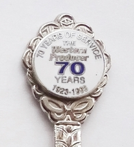 Collector Souvenir Spoon Western Producer 70 Years of Service 1923 to 1993 - $2.99