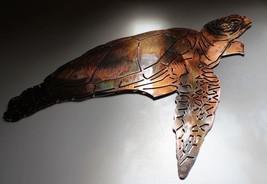 Aquatic Sea Turtle Metal Decor copper/bronze plated - $27.71