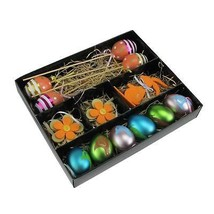Northlight Set of 13 Multi-Color Easter Egg, Flower & Bunny Spring Decor... - £8.07 GBP